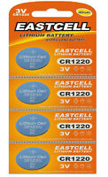 4 x CR1220 3V Lithium Knopfzelle 40 mAh ( 1 Blistercard a 4 Batterien)EASTCELL