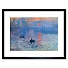 Claude Monet Impression Sunrise Old Master Framed Wall Art Print