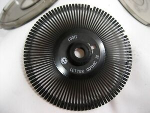 New Olympia Compact 2 Typewriter Printwheel Daisy Wheel Letter Gothic 12p 11007