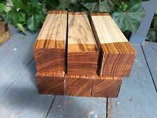 """Zebrano Turning Squares/woodturning/exotic Woods 3x3x12"""""""