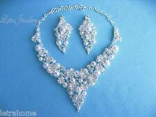 White Shell Pearl Lucky Blätter Einstellbar Halskette Clip Auf Ohrringe Sets Hochzeit