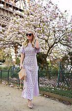 Rebecca Taylor ELIZA Lace Midi Dress Lavender Lookbook Style NEW $895