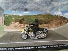 1/43 Kawasaki Z900 Motorcycle James Bond THE SPY WHO LOVED ME 007 series diorama