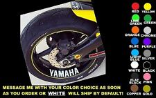 YAMAHA WHEEL / RIM DECALS, SET OF 2, ANY COLOR! r1 r6 fzr fjr yzf fz6r fz1 r7