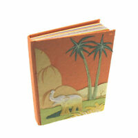 Fair Trade Medium Elephant Dung Orange Notebook Journal Notebook, Recycled paper