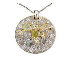 Diamond Pendant with Rough and Polished Diamonds Art Work Piece18K Gold 8.10 TCW