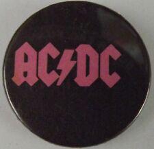 Ac/Dc Pink Logotipo Clásico 1980`S Botón Insignia / Pin (25mm-2.5cm) Ac103