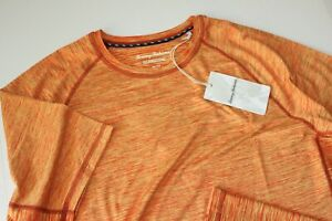 Tommy Bahama Tee Shirt Palm Coast Delray Crew Mangorama Orange New Medium  M