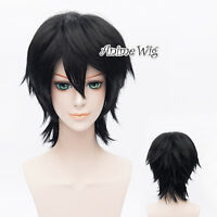 30CM Lelouch Lamperouge Black Cosplay Code Geass Heat Resistant Anime Women Wig
