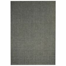 vidaXL Area Rug Sisal Look Indoor/Outdoor 140x200cm Dark Grey Fluffy Carpet