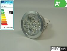GU10 Reflector LED / SPOT 60° -dimmbar- 4x 1w power-leds 320lm - Blanco frío