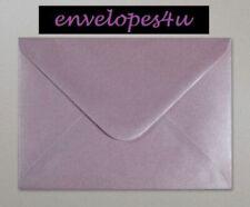 Lilac Envelopes C6 Pearlescent Shimmer Gummed Flap 100gsm Pck of 25 by Cranberry