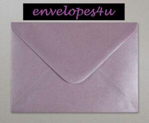 C6 Pearlescent Soft Lilac Invitation Envelopes A6 Wedding Card Invites FREE P&P!