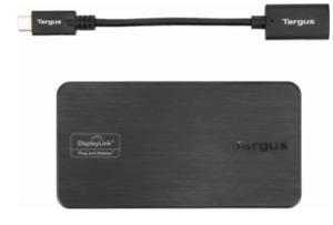 TARGUS VersaLink Dual Video Travel Docking Station USB 3.0-USB-C