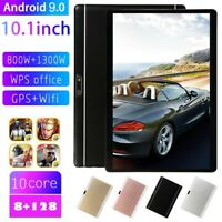 10.1 inch Tablet PC Android 9.0 HD 8+128GB bluetooth WiFi Camera SIM GPS Phablet