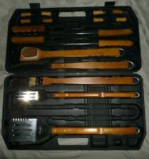 Oniva Bbq Grilling Tools Set Outdoor Cooking Black Case 17 pieces *J2631*