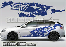 Subaru Impreza Rally Touring car 015 grunge shredded graphics stickers decals