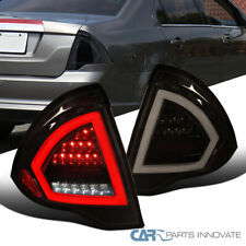 For Ford 10-12 Fusion Full LED Glossy Black Tail Lights Smoke Rear Brake Lamps