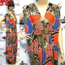 Polyester Empire Waist Geometric Plus Size Dresses for Women