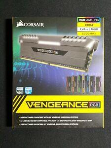 Corsair Vengeance RGB 16GB (2x8GB) DDR4 3000MHz C15 Gaming Computer Memory RAM