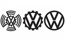 VW decenni Adesivo decalcomania in vinile LOGO VW t4 t5 CAMPER GOLF POLO PASSAT BEETLE