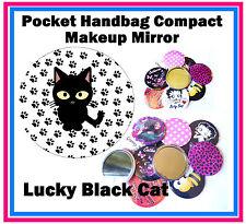 Lucky Black Cat-Bolso / Bolsillo Maquillaje Compacto Espejo-Nuevo-Regalo