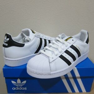 Adidas Originals Superstar Shoes Men's White/Black/Gold Sneakers