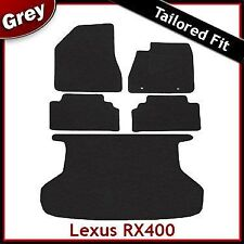 LEXUS RX400 montato su misura moquette auto + le stuoie di avvio GRIGIO (2003 2004... 2008 2009)