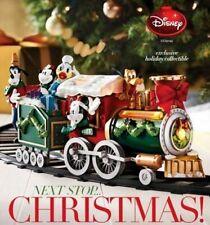 Avon Disney Christmas Train Set Mickey Minnie Donald Goofy Holiday