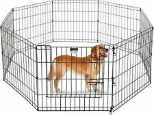 New listing Durable Large Portable Folding Exercise Pet Playpen Dog Puppy Fences Gate Home