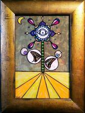 FLEUR DALI Vol I Original Painting Collage Art Surreal Flower Clock Salvador