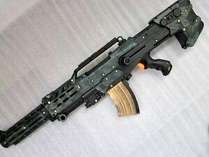 Nerf N-Strike Longshot Halo Military Rifle GUN Sniper Paint Mod Cosplay Green