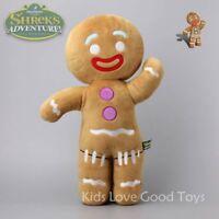 Shrek Adventure Gingerbread Man Gingy Plush Toy Stuffed Animal Doll 19'' Pillow