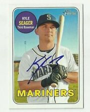 Seattle Mariners KYLE SEAGER Signed 2018 Topps Heritage Card #233