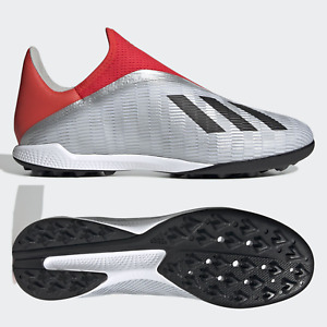 adidas X 19.3 TF Laceless Mens Astro Turf Football Boots Silver Red SIZE 6 7 8 9