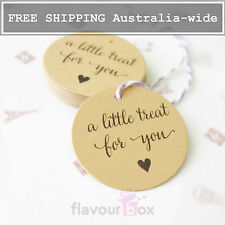 24x A LITTLE TREAT FOR YOU Kraft Thank You Gift Tags Wedding Favour Baby Shower