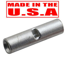 100 PCS 16-14 GA NON-INSULATED BUTT WIRE CONNECTORS UNINSULATED SPLICE USA MADE