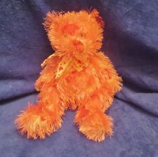 """Ty Punkies Lil Hugz PinK Bear with Red and White Hearts 9"""" No Tag"""