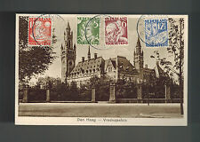 1931 Hague Netherlands RPPC  Postcard Cover Vredespaleis