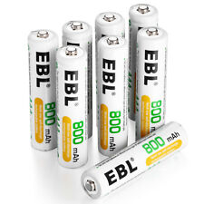 8x 1.2V 800mAh Aaa Ni-Mh Rechargeable Battery For Flashlights Mp3 Toy Camera