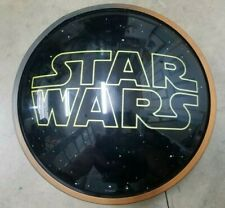 Used Star Wars Light Up LED Sign Home Decor 15.6x15.6in 1305663 DS