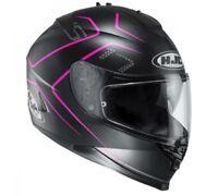 NEW HJC Helm IS-17 Lank schwarz pink matt  XS = 53/54 Motorradhelm Sonnenblende