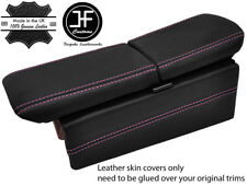 PINK DOUBLE STITCH DUAL ARMREST LID&CONSOLE SIDE LEATHER COVERS FITS HONDA NSX