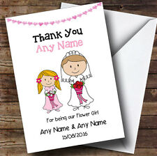 Thank You For Being Our Flower girl Personalised Thank You Greetings Card