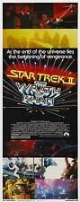 STAR TREK 2: THE WRATH OF KHAN Movie POSTER 14x36 Insert Leonard Nemoy