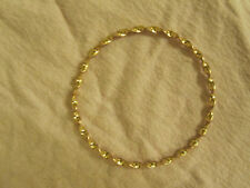 Bronze - Gold Tone Twist Bangle - 6.8cm diameter