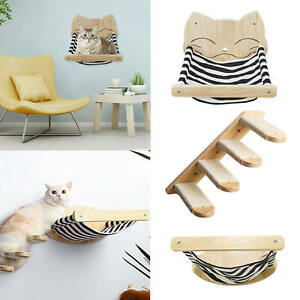 Cat hammock bed seat door wall shelves perches nap holder for