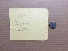 Eddie Cantor (1892-1964) GORGEOUS Huge autograph- signature on a album page.