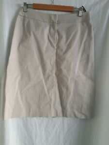 Sportscraft Straight Pencil Knee Length beige cotton skirt Sz 10