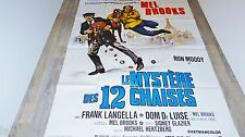 mel brooks LE MYSTERE DES 12 CHAISES   !  affiche cinema 1975